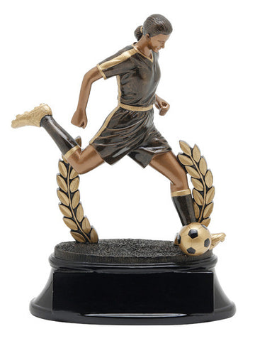 Soccer, Female, Power Resin, Large