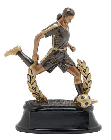 Soccer, Female, Power Resin, Extra Large