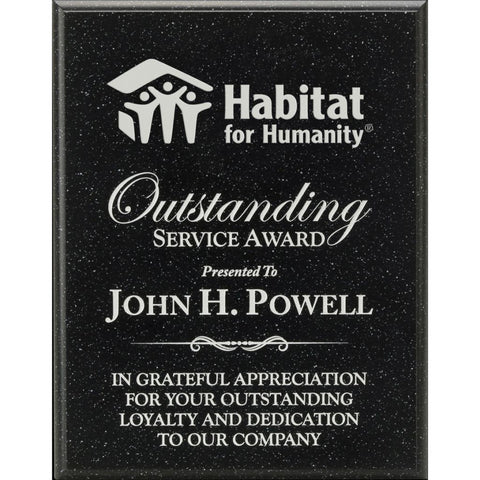 Black AcrylaStone Plaque, Service Award