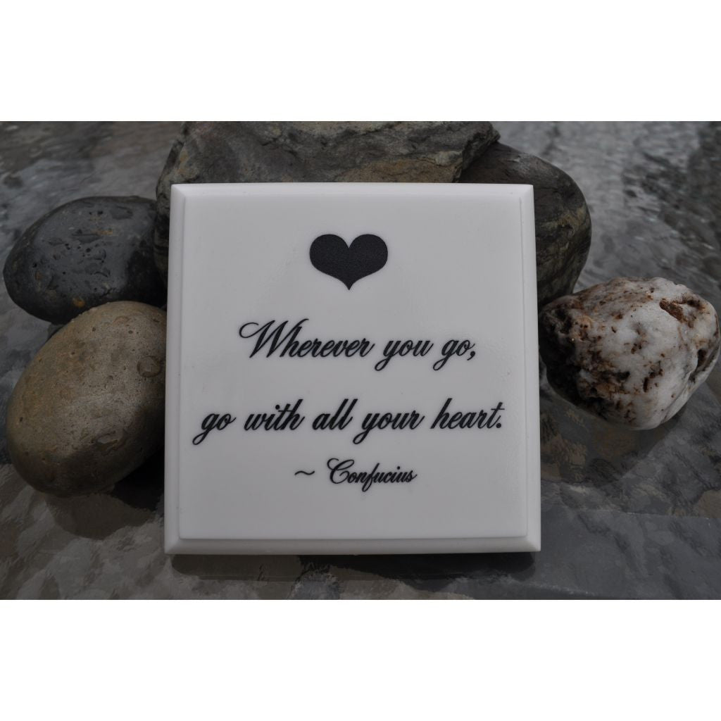 White AcrylaStone Plaque