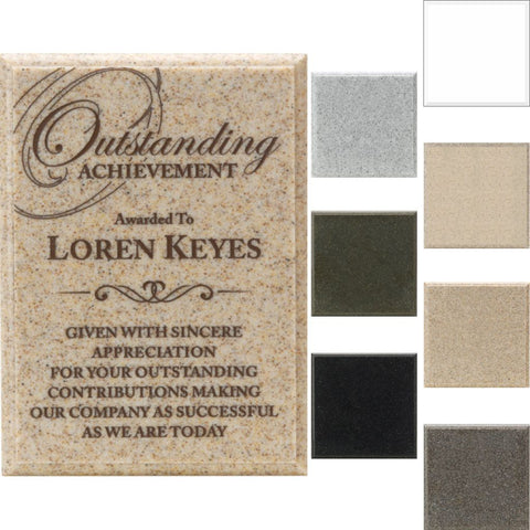 AcrylaStone Indoor Outdoor Plaque with Color Swatch