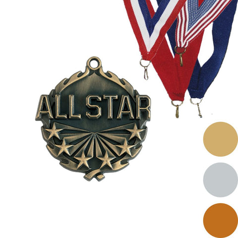 All Star Wreath Medal, 1 3/4""