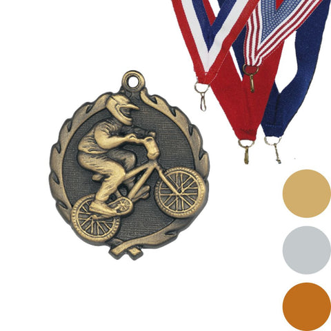BMX Wreath Medal, 1 3/4""