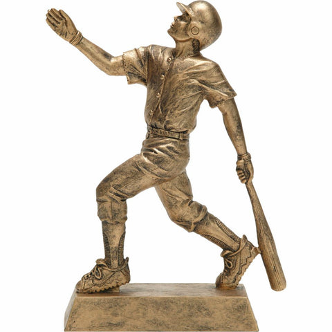 Baseball, Male, Resin Figure Trophy, 2 Sizes