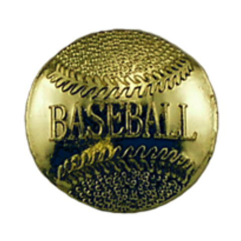 Baseball Metal Chenille Letter Insignia with Optional Display Case, Pack of 25
