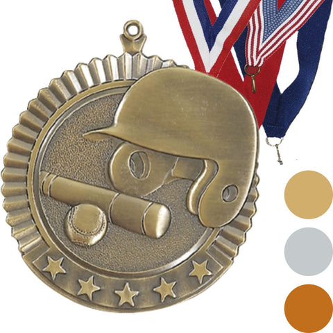 Baseball Star Medal, 2 3/4""