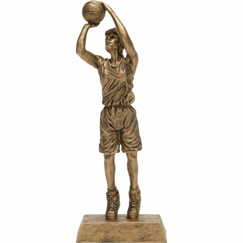 Basketball, Female, Resin Figure Trophy, 2 Sizes