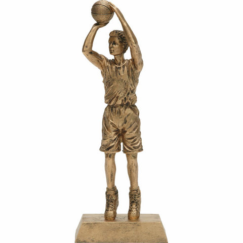 Basketball, Male, Resin Figure Trophy, 2 Sizes