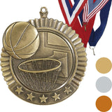 Basketball Star Medal, 2 3/4""