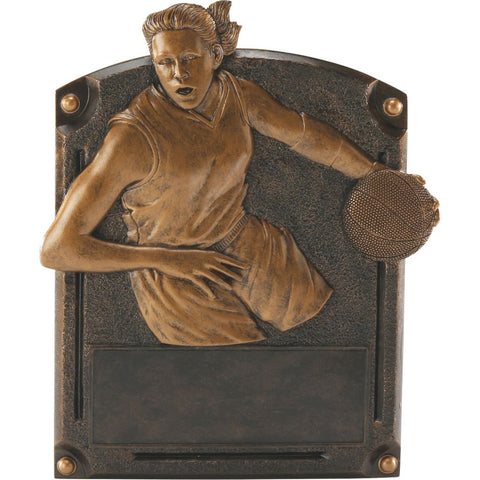 Basketball, Female, Legends of Fame Resin Trophy, 2 Sizes