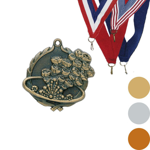 Beauty Queen Wreath Medal, 1 3/4""