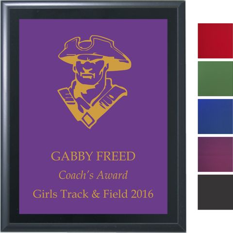 Black Matte Finish Plaque with Colored Brass Plate Cover Image