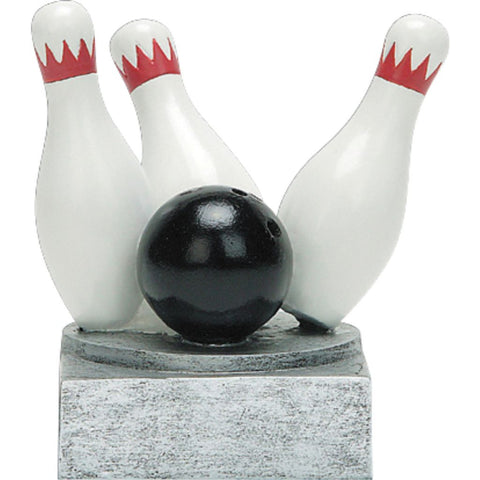 Bowling Color Tek Resin Trophy