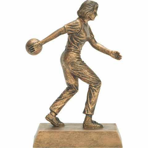 Bowling, Female, Resin Figure Trophy