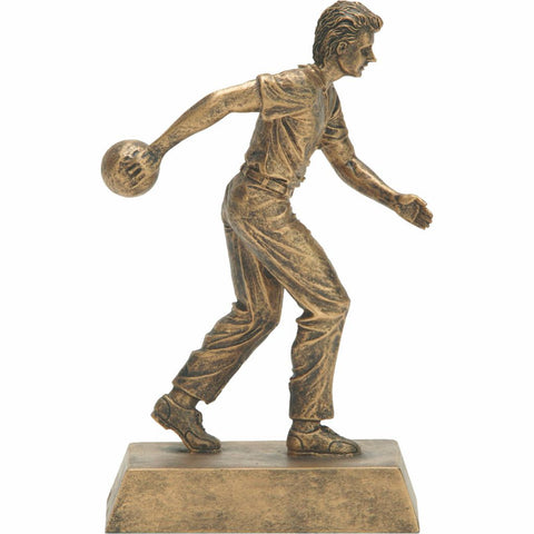 Bowling, Male, Resin Figure Trophy