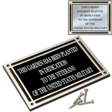 Outdoor Cast Plaque, Silver and Black Aluminum with Insert Plate, 4 Sizes