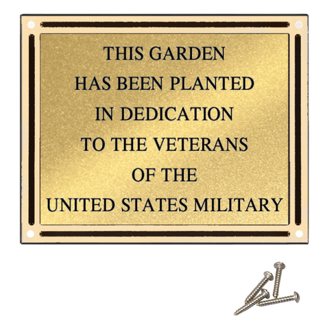 Outdoor Cast Plaque, Bronze and Brown Aluminum with Insert Plate, 4 Sizes