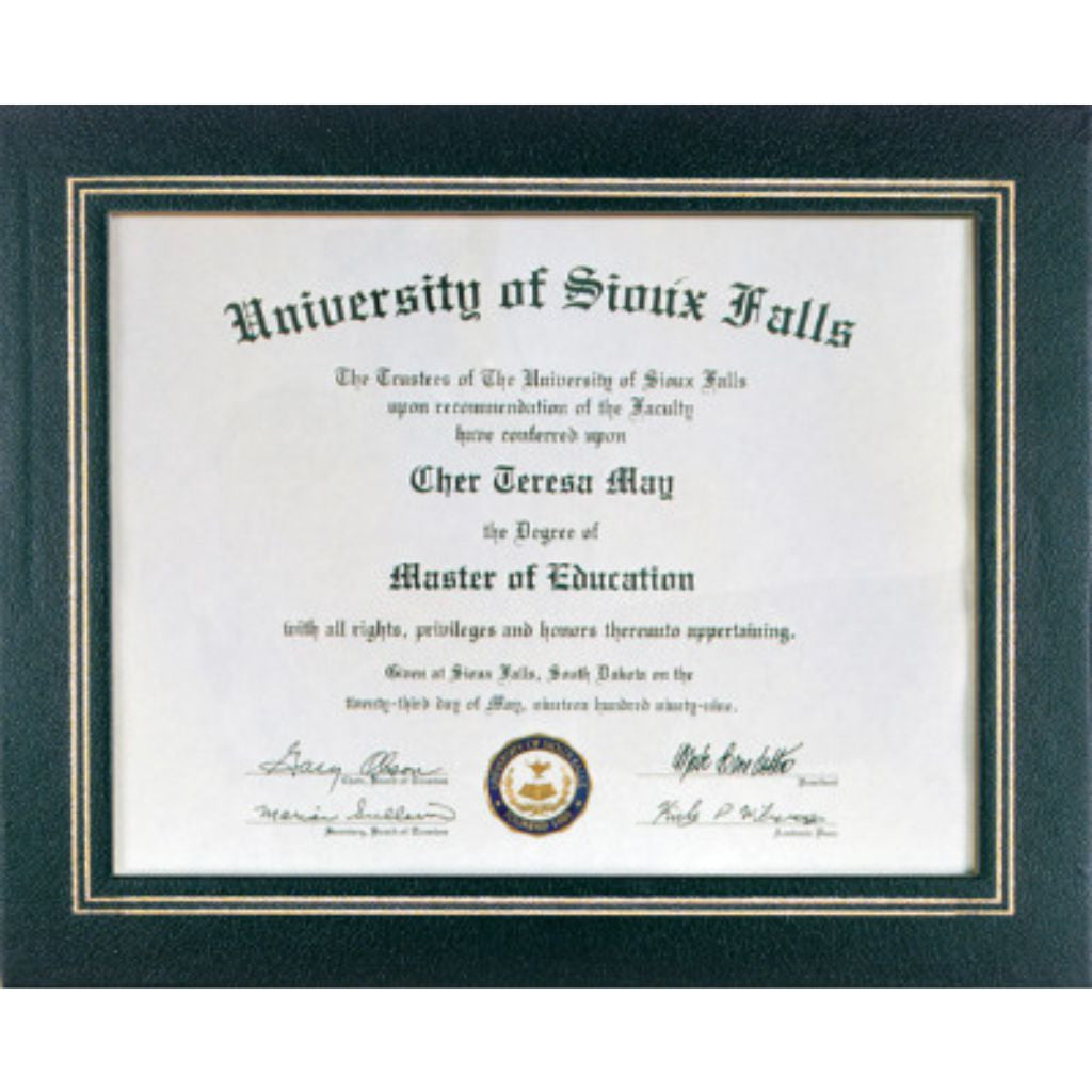 Certificate Holder in Black