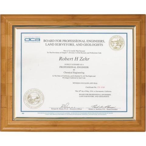 Certificate Mount on Bamboo