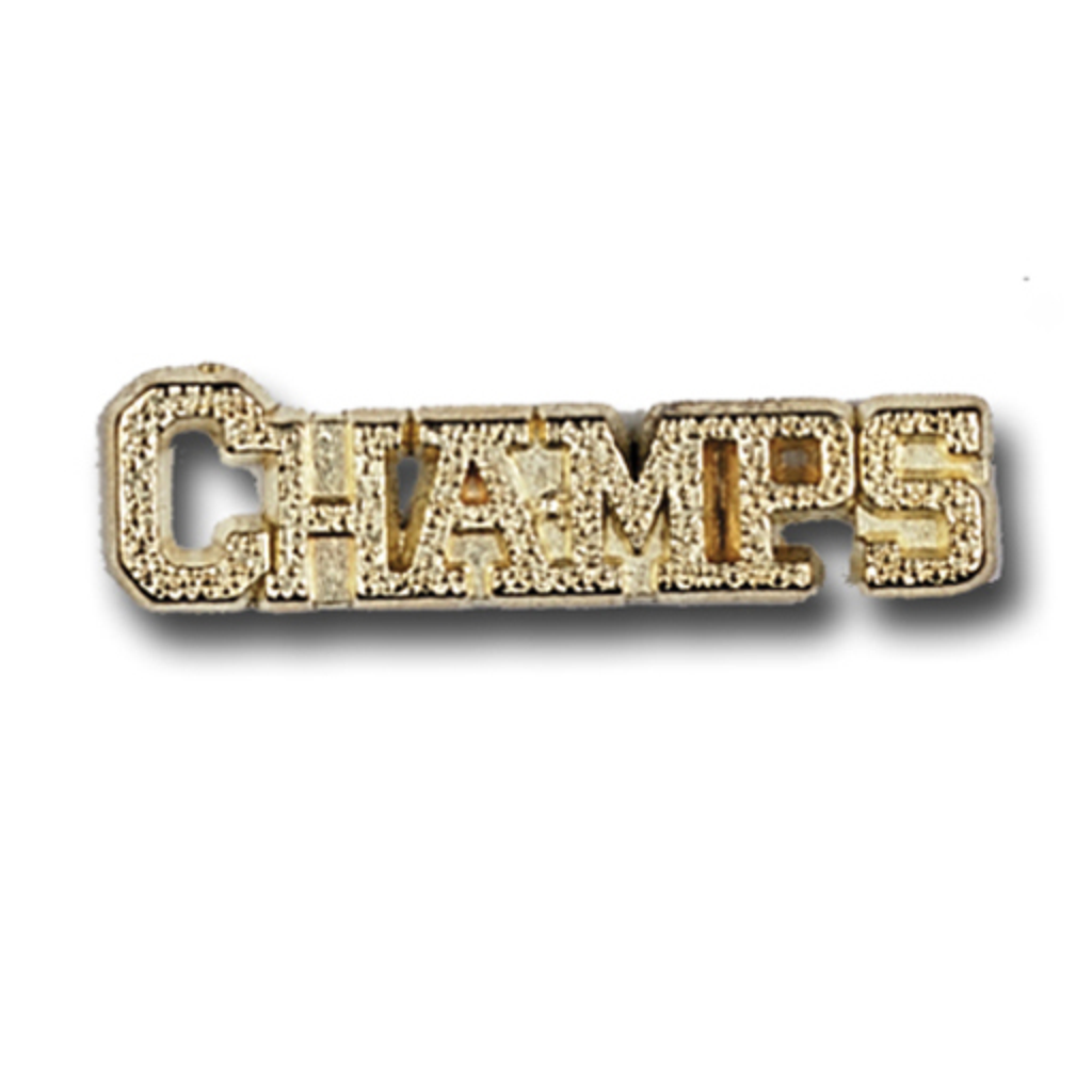 Champs Metal Chenille Letter Insignia with Optional Display Case, Pack of 25