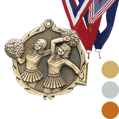 Cheer Wreath Medal, 2 1/2""