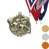 Cheer Wreath Medal, 1 3/4""