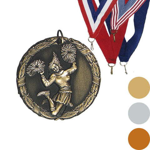 Cheerleader, Female, XR Medal, 2""