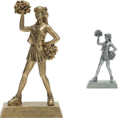 Cheerleader, Female, Figure Resin in both colors