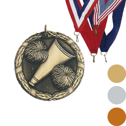 Cheerleading XR Medal, 2""