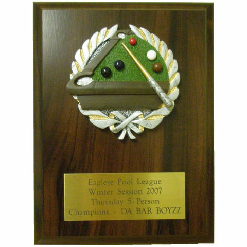 Cherry Finish Plaque with Resin Plaque Mount