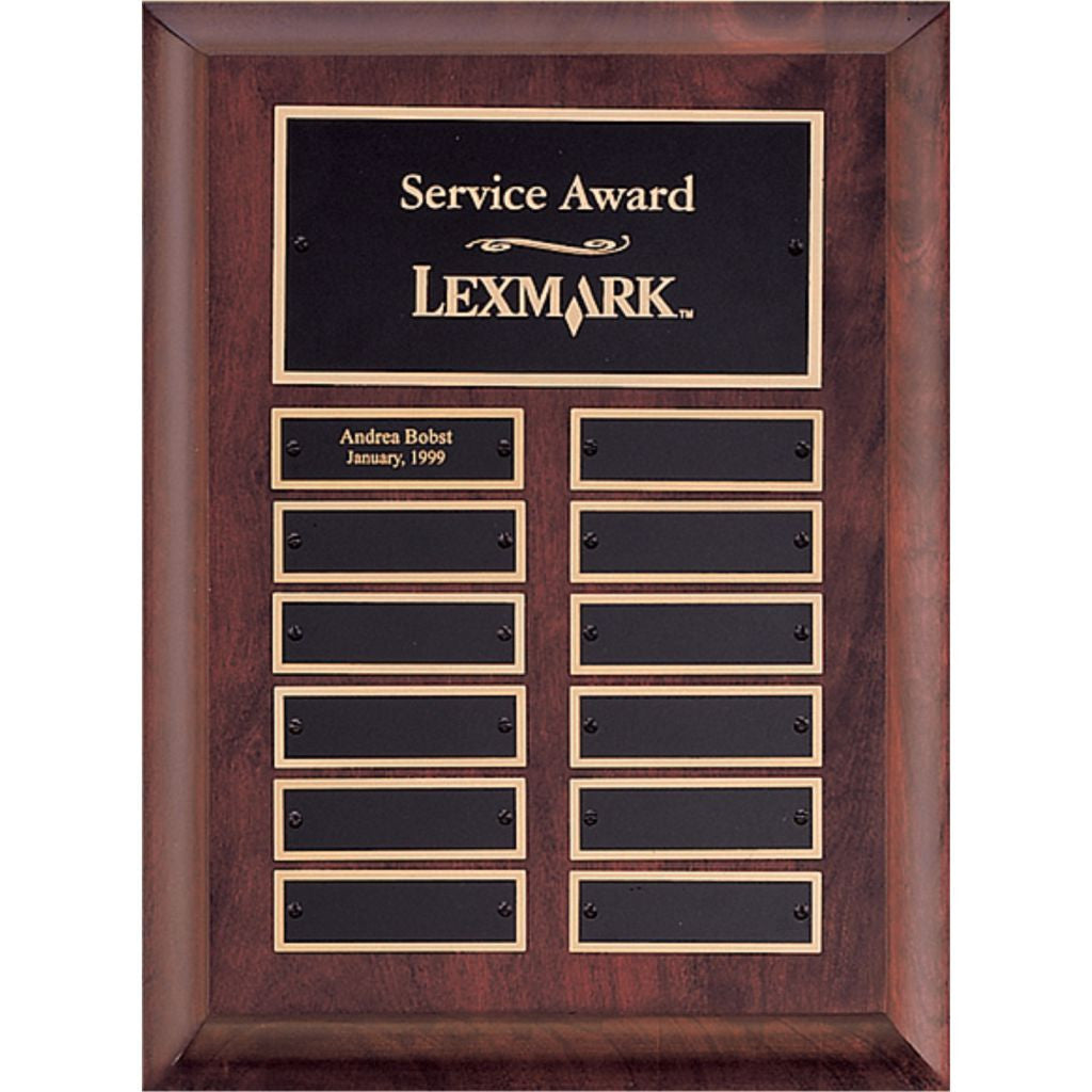 Cherry Finish Wood with Furniture Finish Perpetual plaque, Service Award