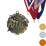 Cross Country, Male, Wreath Medal, 1 3/4""