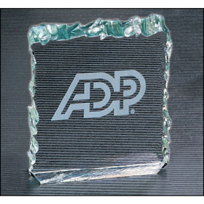 "Crushed Ice Series, 3/4"" thick free standing acrylic"