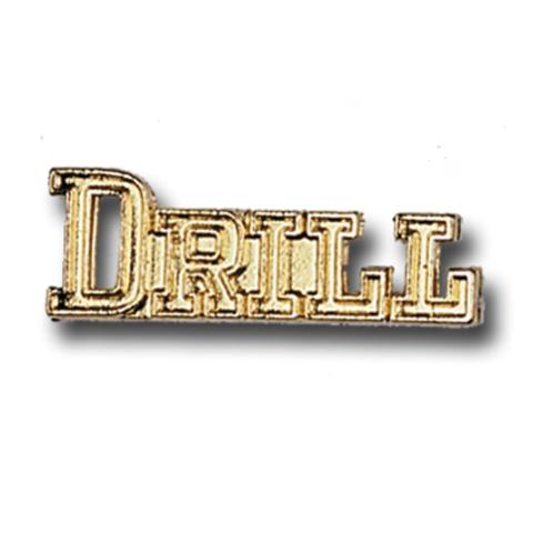 Drill Metal Chenille Letter Insignia with Optional Display Case, Pack of 25