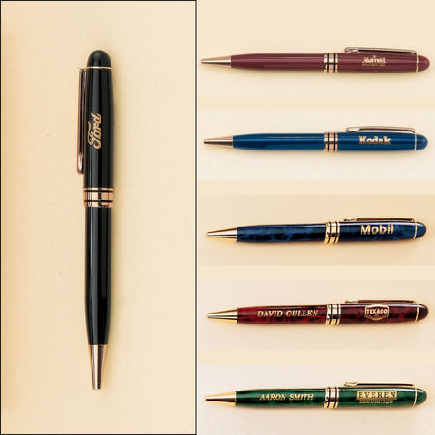 Euro Pen with Gold Accents, 6 Colors