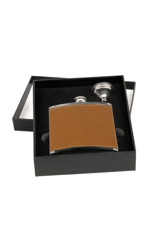 Flask Laser Engravable in Leather