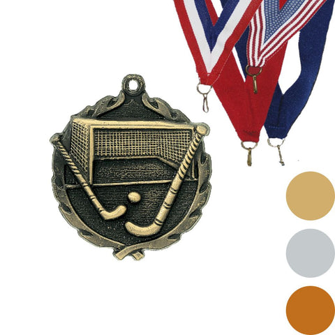 Field Hockey Wreath Medal, 1 3/4""