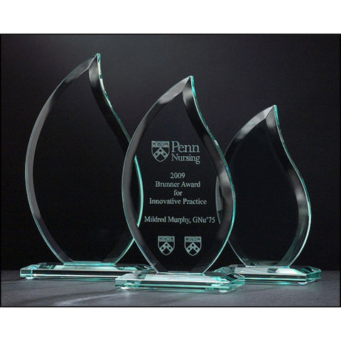 Flame Series Glass Award, 3 Sizes