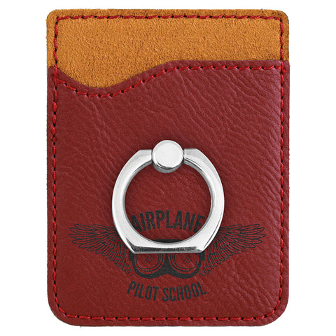 Rose Leatherette Phone Wallet with Ring
