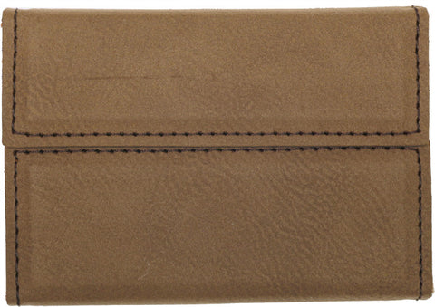 Leatherette Hard Business Card Case in Dark Brown