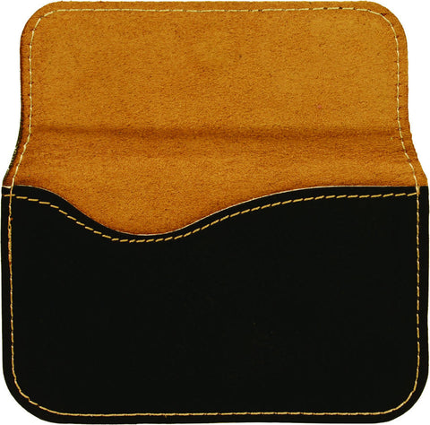 Leatherette Flexible Business Card Case in Black