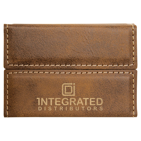 Leatherette Hard Business Card Case, 11 Colors