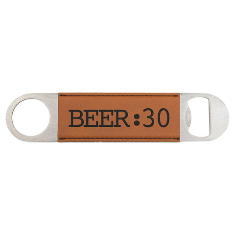 Leatherette or Cork Flat Bottle Opener, 11 Colors