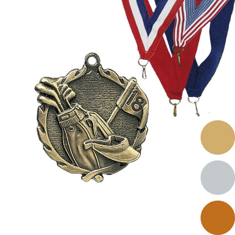 Golf Wreath Medal, 1 3/4""