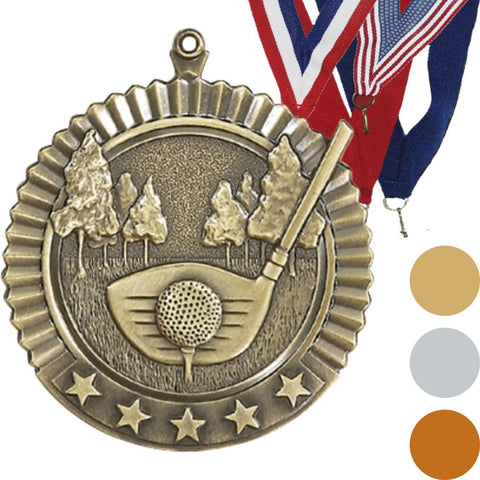 Golf Star Medal, 2 3/4""