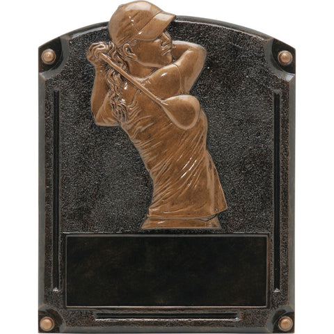 Golf, Female, Legends of Fame Resin