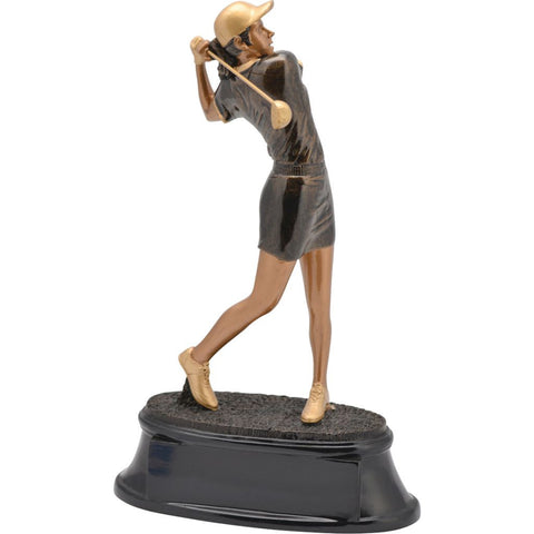Golf, Female, Power Resin, Extra Large at an angle