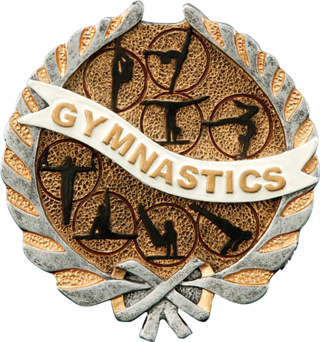 Gymnastics Resin Plaque Mount