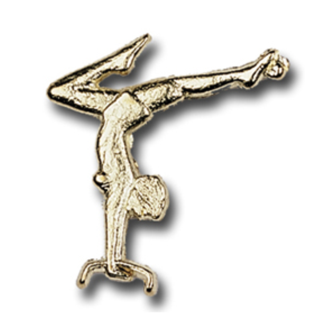 Gymnast, Female, Metal Chenille Letter Insignia with Optional Display Case, Pack of 25