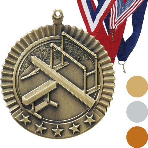 Gymnastics, Female, Star Medal, 2 3/4""
